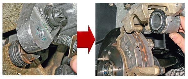 замена передних тормозных колодок лада гранта шаг 2